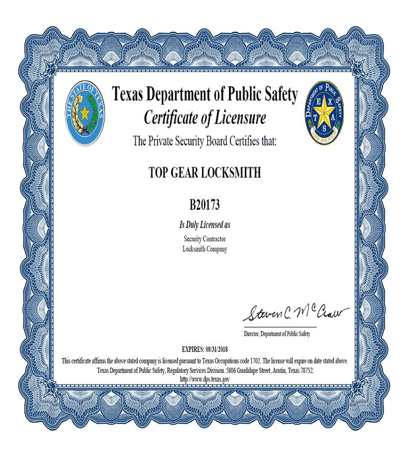 topgear-locksmith-certification